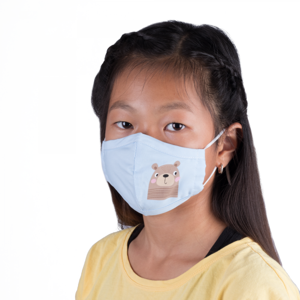 PARSA Beauty Washable Mouth and Nose Mask Child Blue Bear