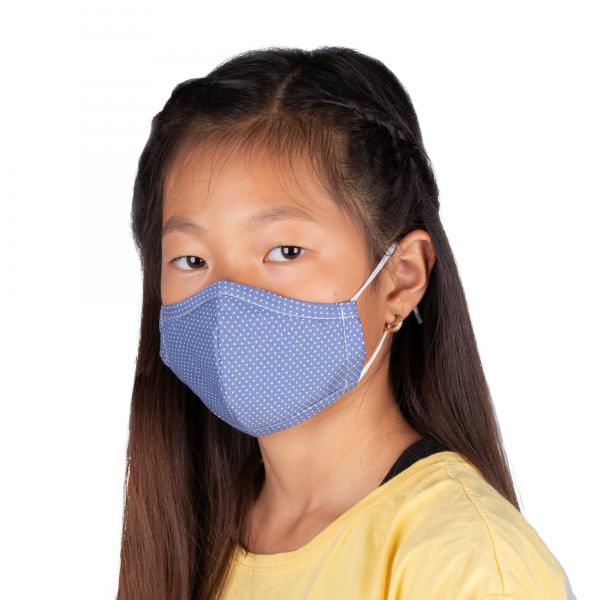 PARSA Beauty Washable Mouth and Nose Mask Child Blue Dots