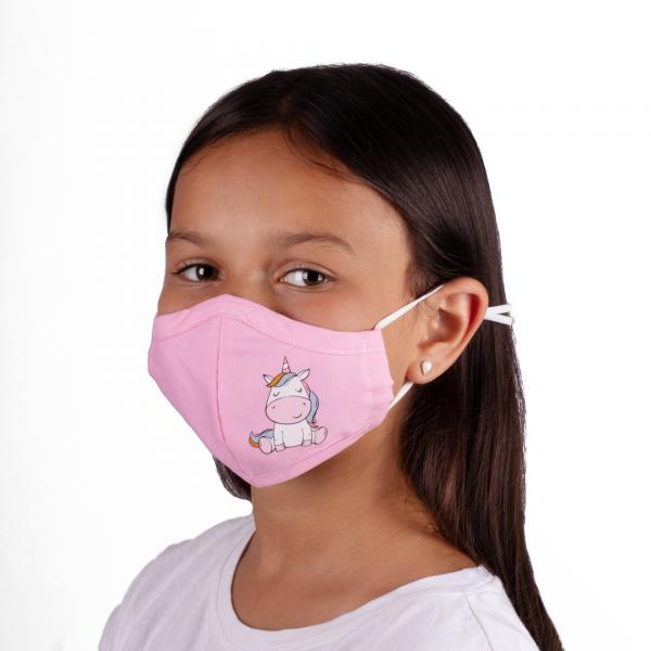 PARSA Beauty Washable Mouth and Nose Mask Child Pink Unicorn