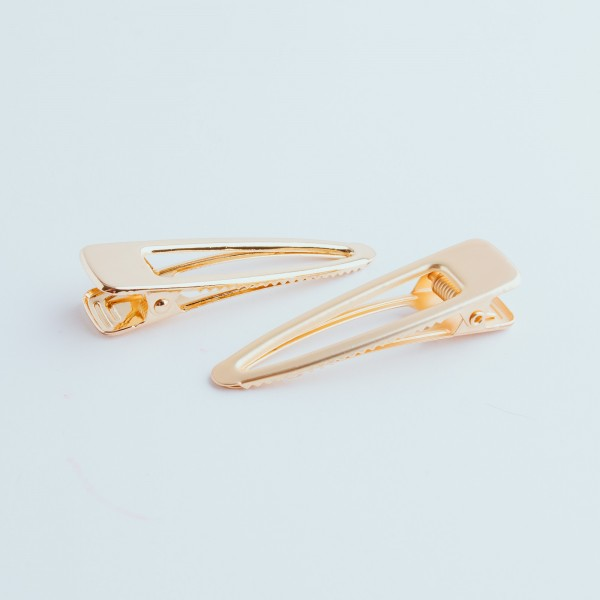 PARSA Beauty Simple hair clip combination in gold 2 pieces
