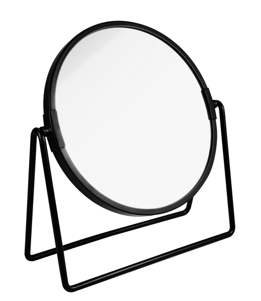 PARSA Beauty cosmetic mirror black matt with 3x magnification