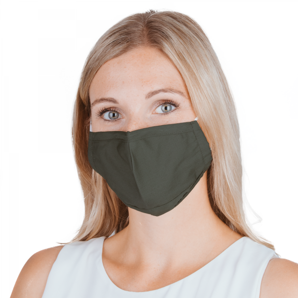 PARSA Beauty Waschbare Mund- und Nasenmaske für Erwachsene Khaki