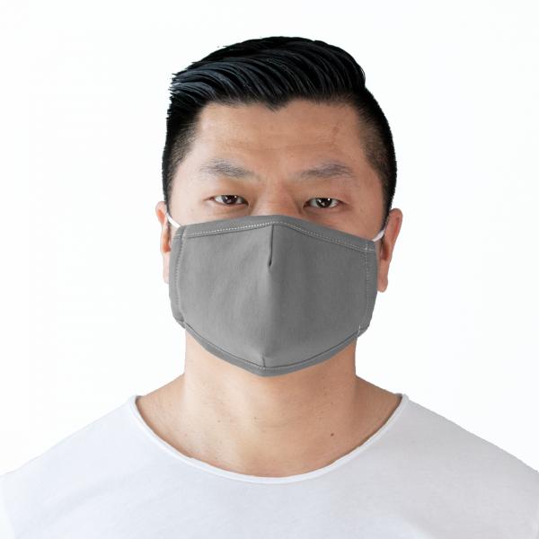 PARSA Beauty Waschbare Mund- und Nasenmaske für Erwachsene dunkelgrau