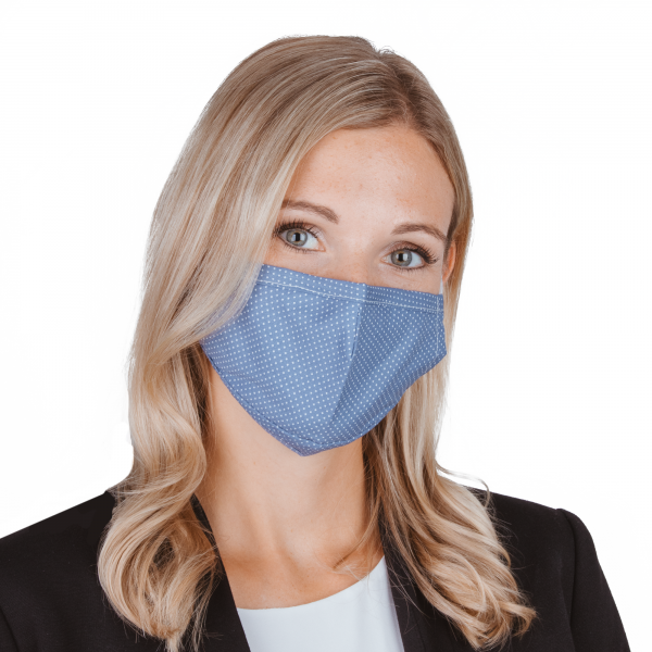 PARSA Beauty Washable Mouth and Nose Mask for Adults Blue