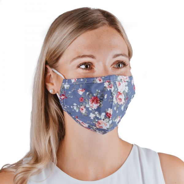 PARSA Beauty Washable mouth and nose mask for adults with printed roses