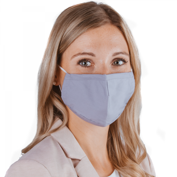 PARSA Beauty Washable Mouth and Nose Mask for Adults Gray / Blue