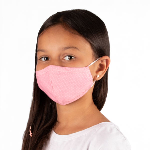 PARSA Beauty Washable Mouth and Nose Mask Child Pink Dots