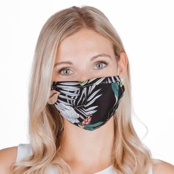 PARSA Beauty Waschbare Mund- und Nasenmaske für Erwachsene Print Tropical