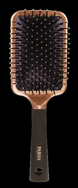 PARSA Beauty Haarbürste Trend Line Paddle Bürste mit Kunststoffpins roségold