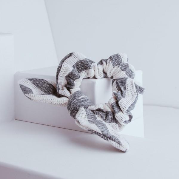 PARSA Beauty Scrunchie mit Schleifendetail in maritimen Look