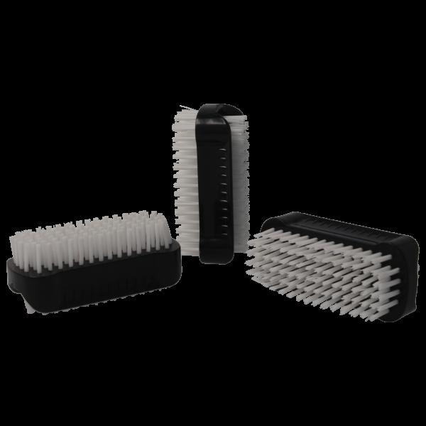 PARSA Beauty Handwaschbürste, doppelseitige Nagelbürsten im 3er Pack in schwarz