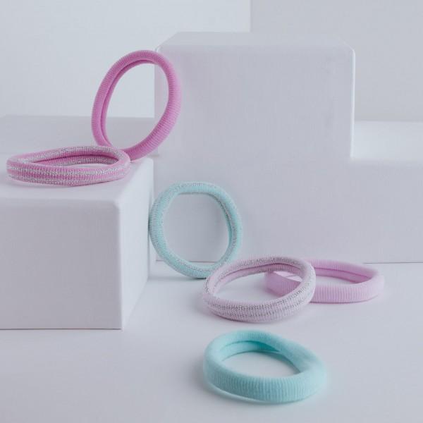 PARSA Beauty hair tie set in fresh pastel tones 6 pieces