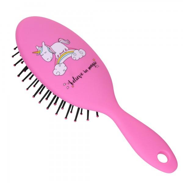 PARSA BEAUTY Children's hair brush Mini styling brush Unicorn hair brush