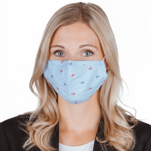 PARSA Beauty Washable Mouth and Nose Mask for Adults Print Anker