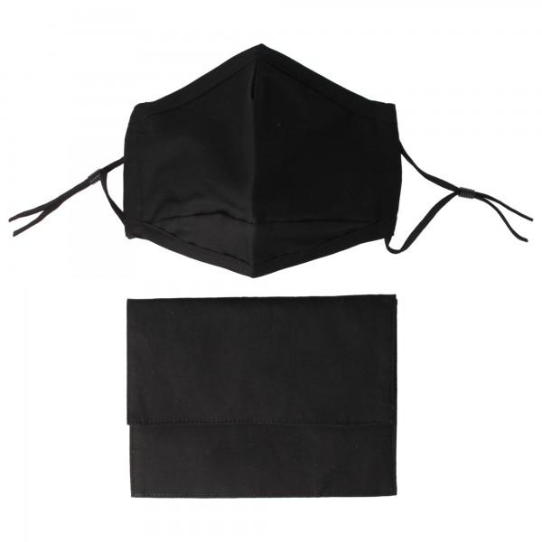 PARSA Beauty Mask-have Set: Mask with matching bag, black