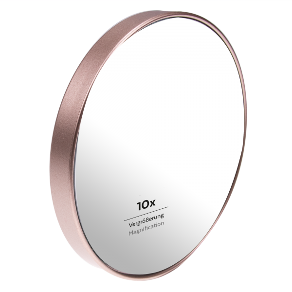 PARSA Beauty suction cup mirror shower mirror bathroom mirror with 10x magnification champagne